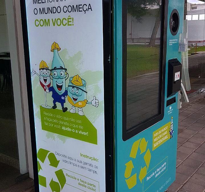 Em parceria com a O-I, São Paulo, Rio de Janeiro e Recife ganham Retorna Machines que coletam vidro!