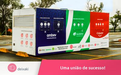 União da Colgate, Suzano, Ambev, Ambipar e Boomera promove coleta e reciclagem de resíduos pós-consumo através do Deixaki